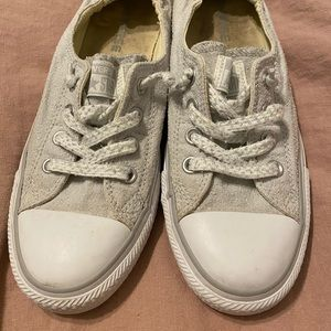 Light Gray slip on Converse